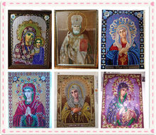 2019 DIY diamante pintura Cruz puntada bordado religioso icono 5D cristal diamante bordado mosaico nuevo año decoración regalo(China)