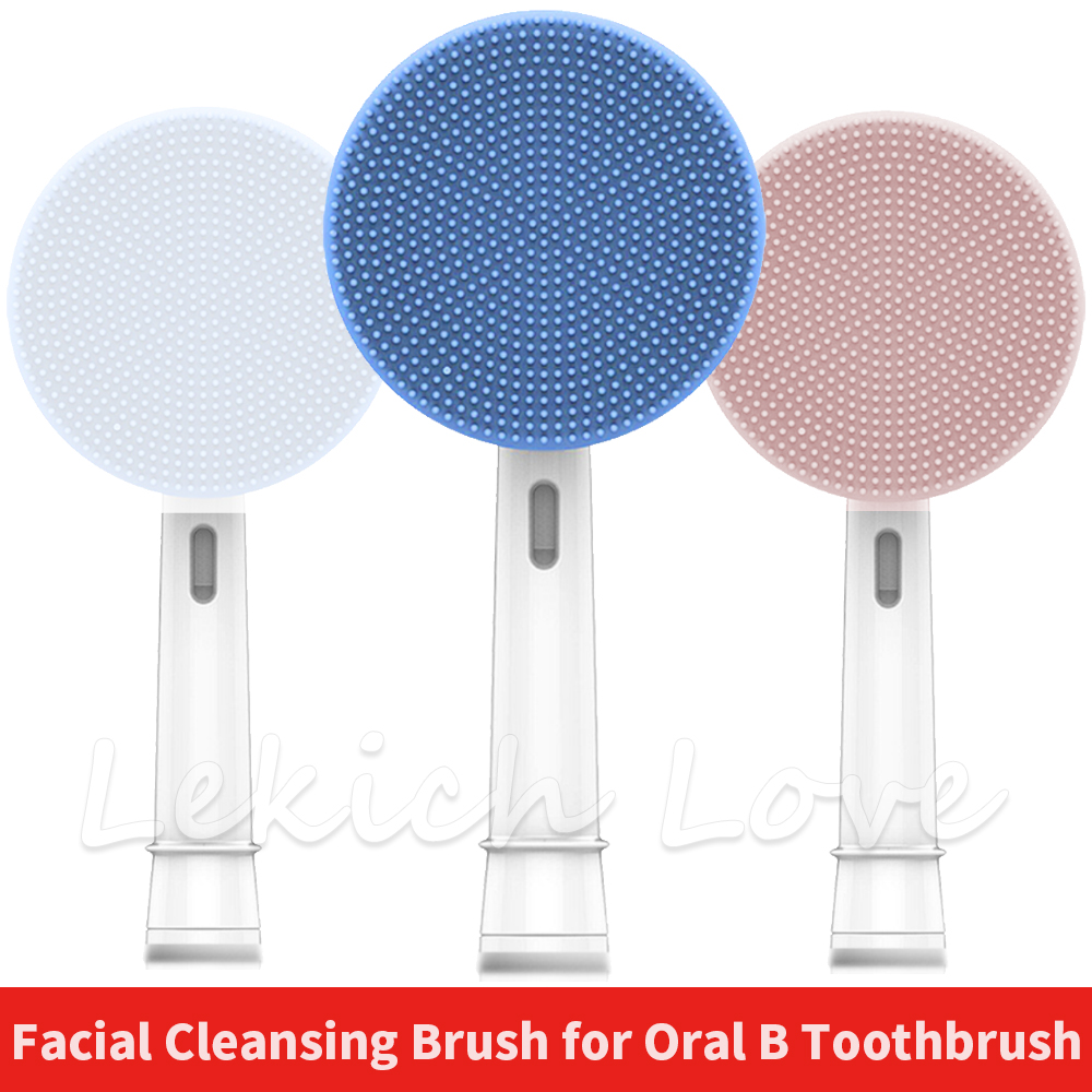 Facial Cleansing Brush Head for Oral B Braun Electric Toothbrush Handle Face Massager and Cleanser Brush Heads image