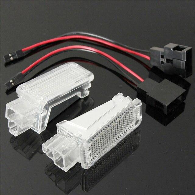 2pcs LED Car Door Courtesy Lamp For Audi A1 8X A3 A4 B5 B6 A5 A6 C5 C6 C7 A7 Q5 SQ5 100 8P 8V TT 8J Auto Interior Welcome light