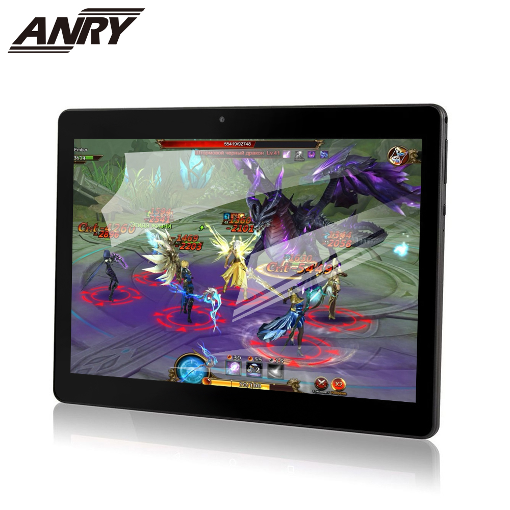 ANRY NEW 2019 MT6580 4GB/32GB 10.1' Tablets Android 7.0 Quad Core Dual Camera 5MP Dual SIM Tablet PC GPS Bluetooth 3G Phone