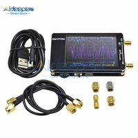"""1 مجموعة 2.8 """"2.8 بوصة LCD NanoVNA ناقلات شبكة محلل DIY كيت 50 KHz 900 MHz MF HF VHF UHF هوائي محلل دعوى المدمج في الخليط على"""