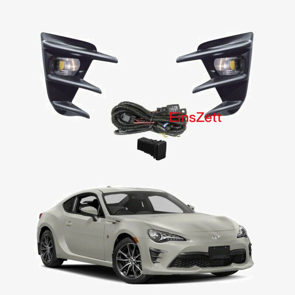1set Car Fog Lamp Assembly For Toyota 86 ZN6 Coupe 2Dr GT/GTS 2016-on Front Bumper Lamp LED Bulb Day Light With Wiring Switch