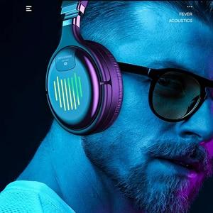 Image 1 - Fones de ouvido sem fio bluetooth com microfone fone de ouvido para jogos bluetooth 5.0 3d estéreo dobrável luz led cartão tf para celular