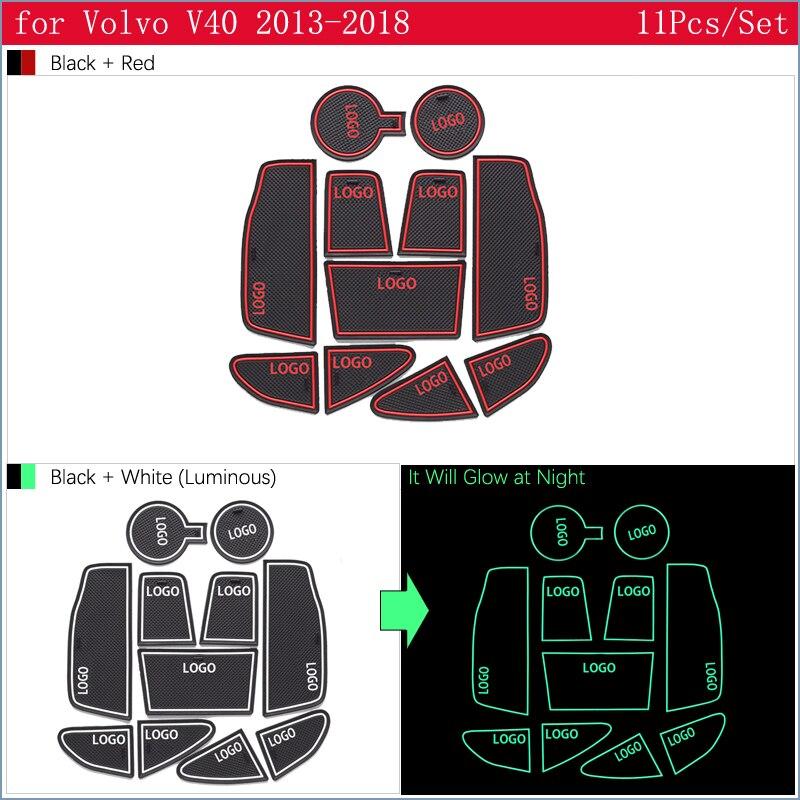 cheapest Anti-Slip Rubber Gate Slot Cup Mat For VOLVO V40 2013 2014 2015 2016 2017 2018 Door Groove Mat V40CC CC Cross Country R Design