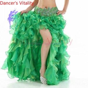 Image 2 - ¡Gran oferta! Vestido de danza del vientre senior yarn, disfraces sexis para mujeres, falda de escenario de baile shasha Latina para mujeres, faldas divididas para danza del vientre