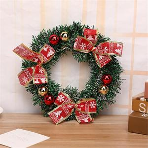 Image 4 - Christmas Wreath Handmade Rattan Pendant Christmas Garland Mall Xmas Tree Door Decoration Advent Wreath guirnalda navidad