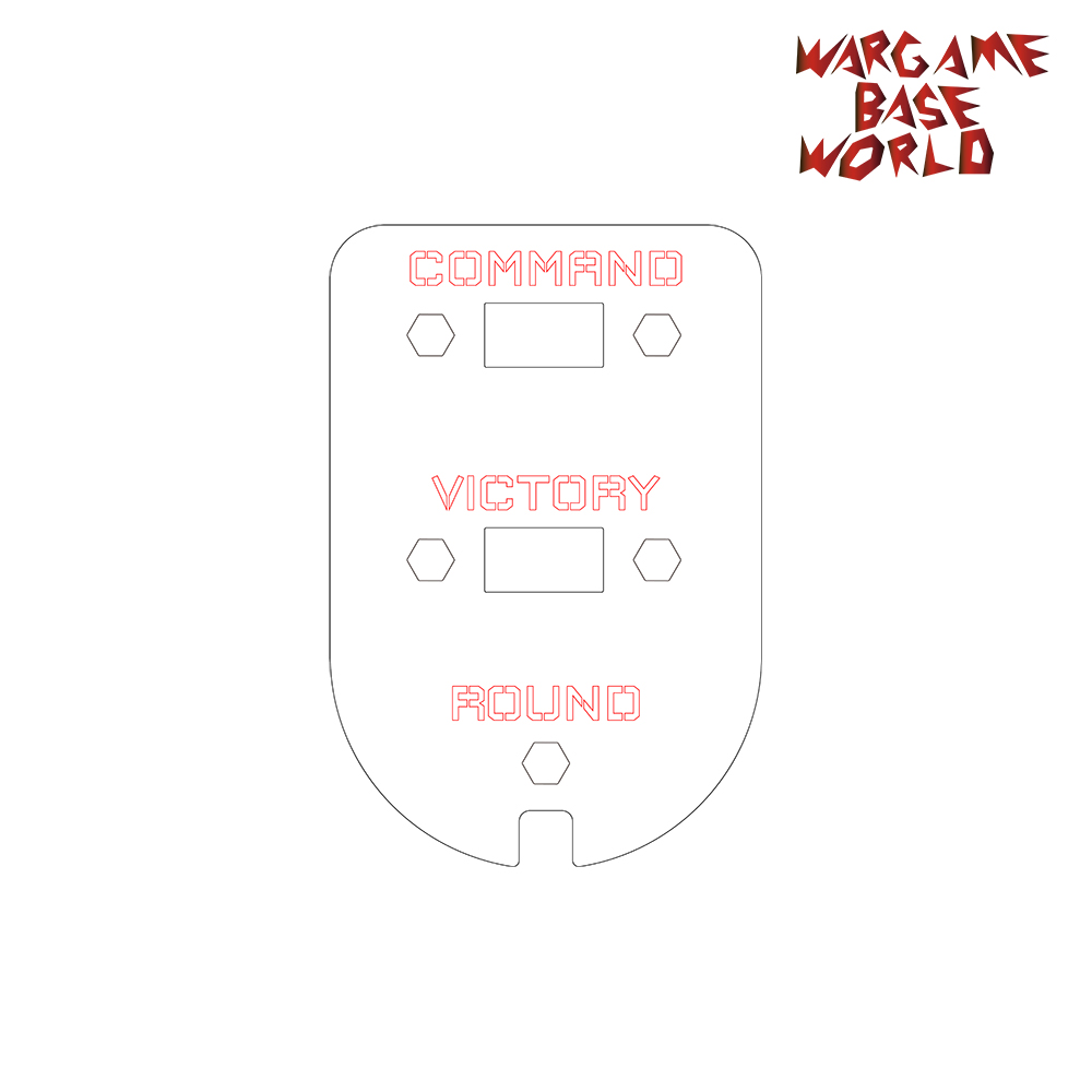 Wargame Base World - Wound Counter/Tracker/Dial/Marker Command Points- 1 Set
