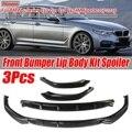 Новинка  3 шт.  автомобильный передний бампер  разделитель для губ  рассеиватель  комплект для тела  спойлер  Защита бампера для BMW 5-Series G30 G31 G38 ...