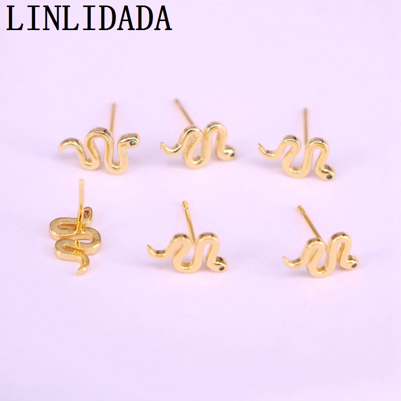 10Pairs Mini Snake Stud Earrings Women 2020 Fashion Jewellery Animal Earring Gold Filled Best Friend Gift