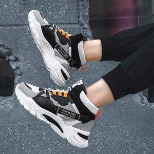 Image 4 - 2020 מותג אופנה גברים של נעליים יומיומיות נוח זכר נעליים חיצוני נעלי ספורט גברים פנאי שטוח Chaussure Homme גבוהה למעלה הנעלה