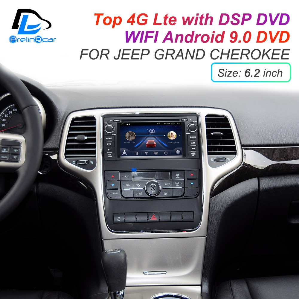 Excellent IPS touch screen DSP sound Android 9.0 2 DIN 4g Lte radio For JEEP Grand Cherokee GPS DVD player stereo navigation 1