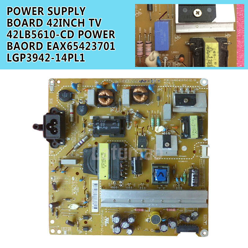 100% Test Work Durable Power Supply Board For  LG 42'' TV 42LB5610-CD Board EAX65423701 LGP3942-14PL1