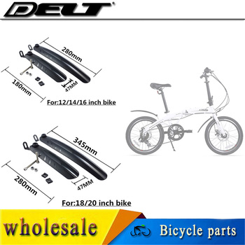 1 Juego de guardabarros de bicicleta plegable para bicicleta plegable de 14/16/18/20 pulgadas 180/280mm y 280/345mm accesorios para bicicletas