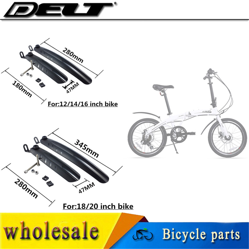 1 Set Folding Bicycle Bike Fenders Bike Mudguard For 14/16/18/20 Inch Folding Bike 180/280mm & 280/345mm Black Bicycle Bike Part