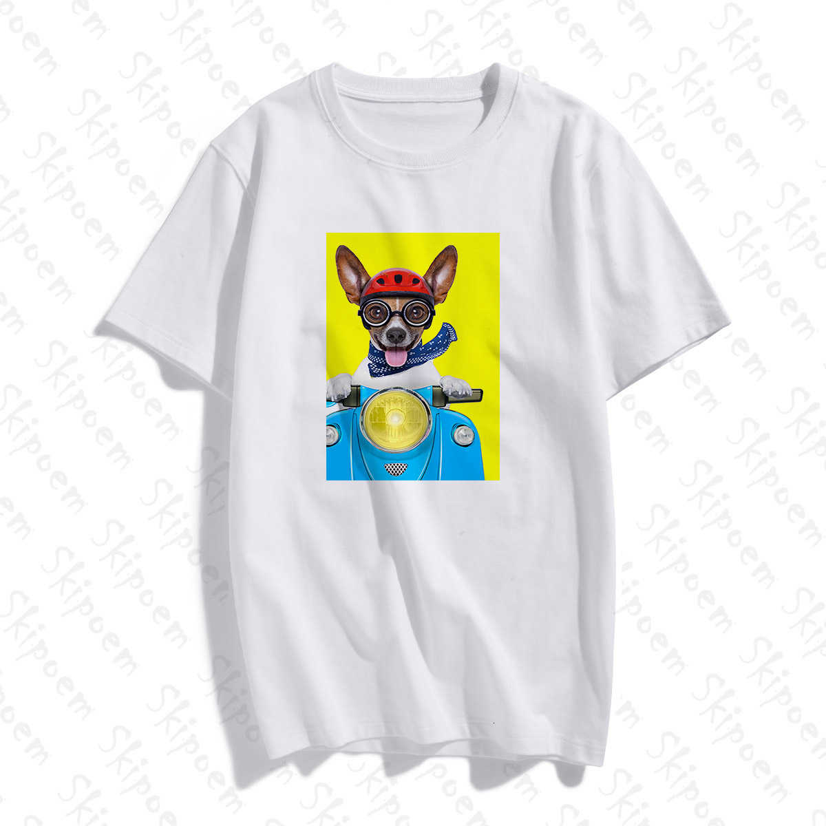 Ngộ Nghĩnh Đạp Xe Chó Áo Nữ Vintage Thẩm Mỹ Harajuku Kawaii Gothic Plus Bông Áo Thun Tay Ngắn In Chữ Femme Dạo Phố