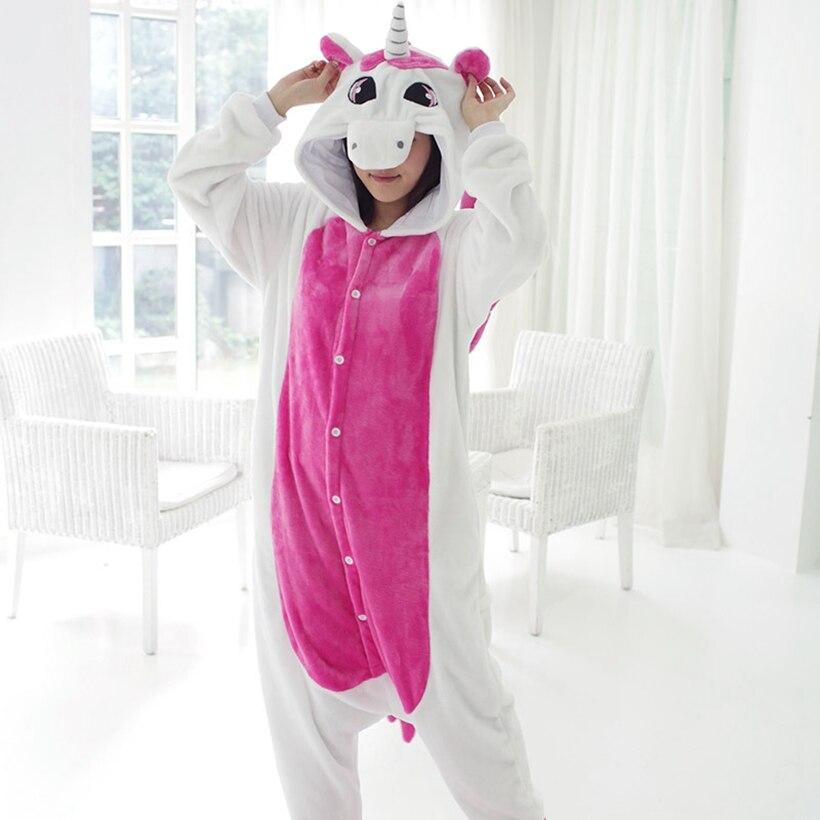 Женские костюмы на Хеллоуин Косплей животных Единорог пижамы Дети Девочки Мальчики кигуруми Розовый Единорог комбинезоны