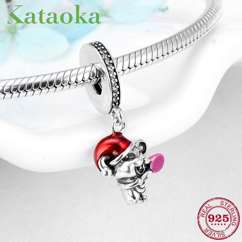 Happy Animals With Lollipop Sterling Silver 925 Charms Beads Diy For Womens Jewelry Fit Original Pandora Bracelets Making Gift