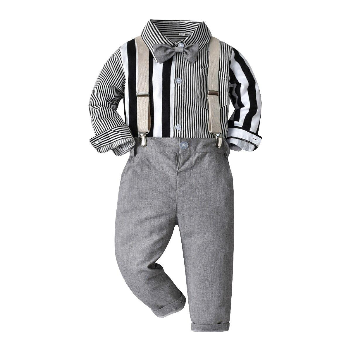 2 peças, macacão + calça com suspensório,