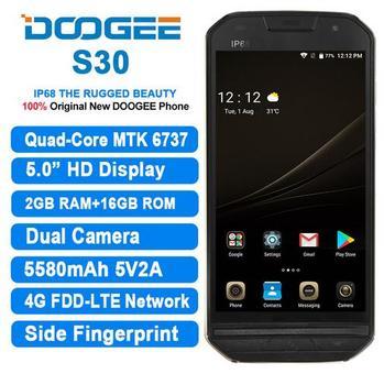 DOOGEE S30 4G LTE IP68 Waterproof 5580mAh Side fingerprint Dual camera 5V/2A 5.0