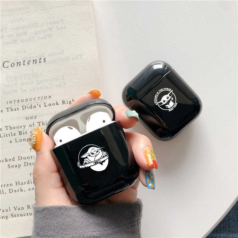 Hard Earphone Black Case For Airpods 1 2 Case Cute Pattern Baby