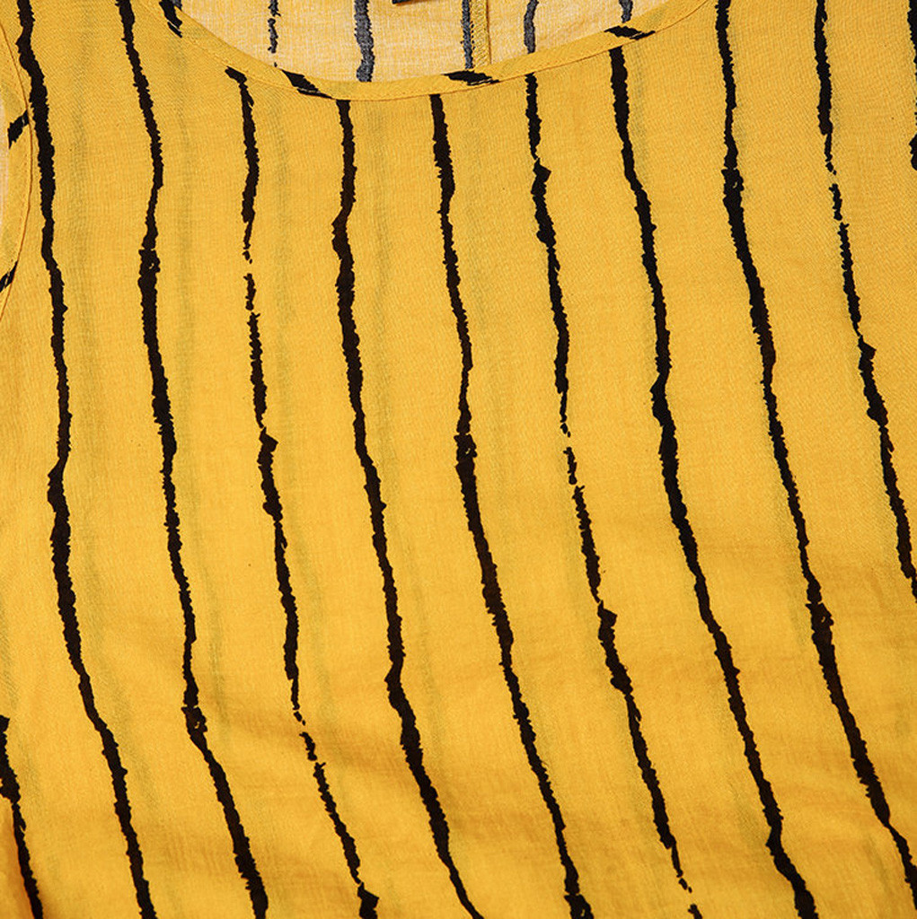 dress Women Casual Beach Sundress Dresses Vintage Print Polka Dots Striped Fake Two piece O Neck