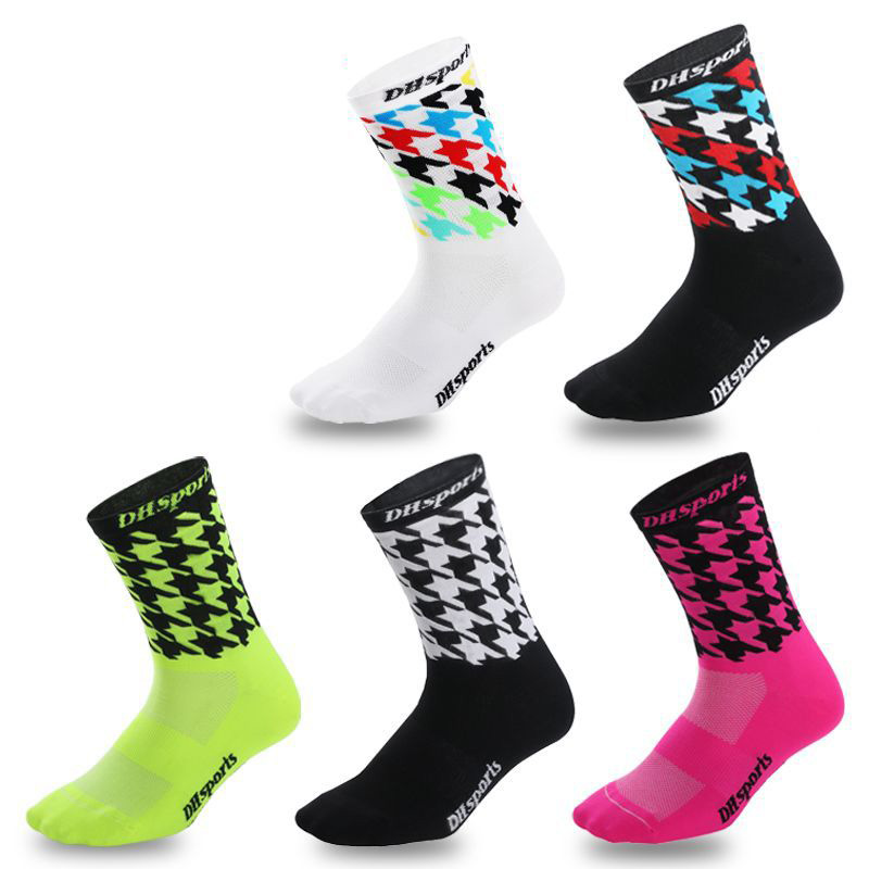 Colorful Mens Sports Boat Socks Outdoor Running Cycling Compression Nylon Socks