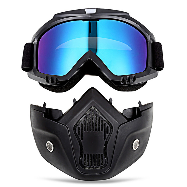 High Quality Full face shield Saliva protection Masks Anti-pollution Dust Detachable Filter Mouth Mask Goggles Respirator 1