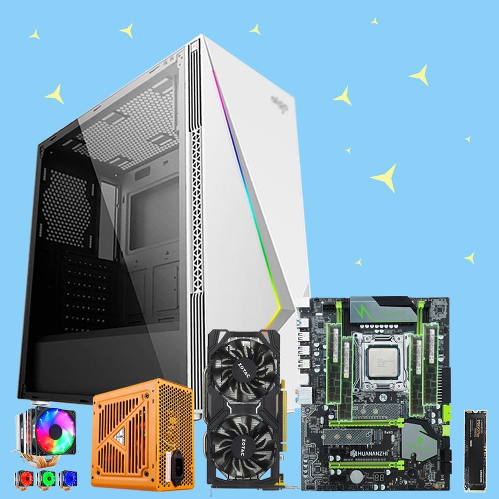 HUANANZHI X79 Pro Motherboard Bundle With M.2 500G SSD CPU 2660V2/2680V2/2690V2 RAM 64G(4*16G) 500W PSU GTX1060 6G Video Card