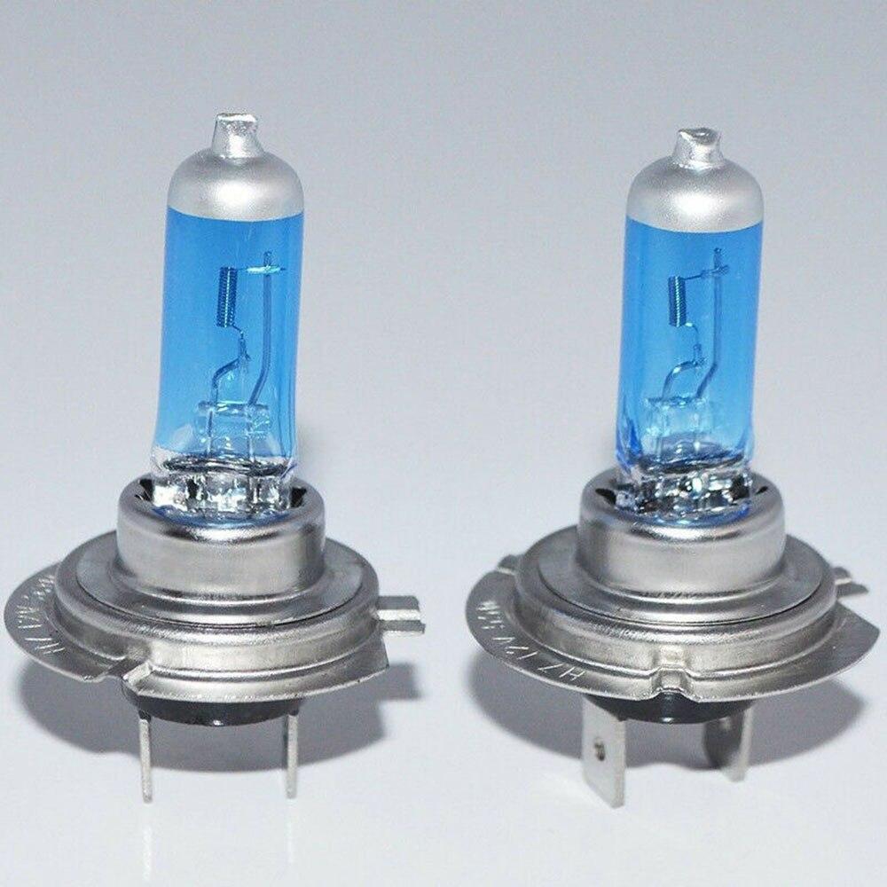 2 шт супер яркий белый светильник H7 55W 12V 6000K Ксеноновые лампы, автомобильный головной светильник, галогенные лампы