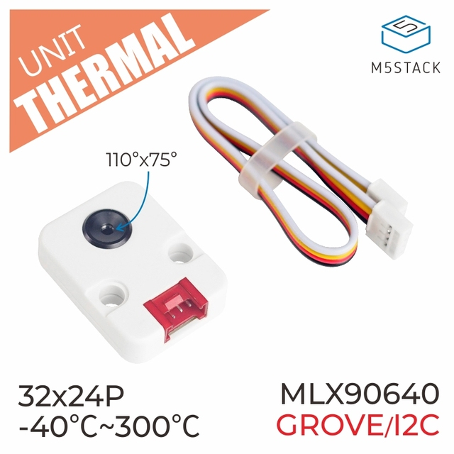 M5Stack Official Thermal Camera MLX90640 with I2C Compatible ESP32 Development Board Thermal Imaging Camera Infrared Module