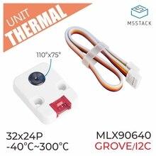 M5stack oficial câmera térmica mlx90640 com i2c compatível esp32 placa de desenvolvimento câmera de imagem térmica módulo infravermelho