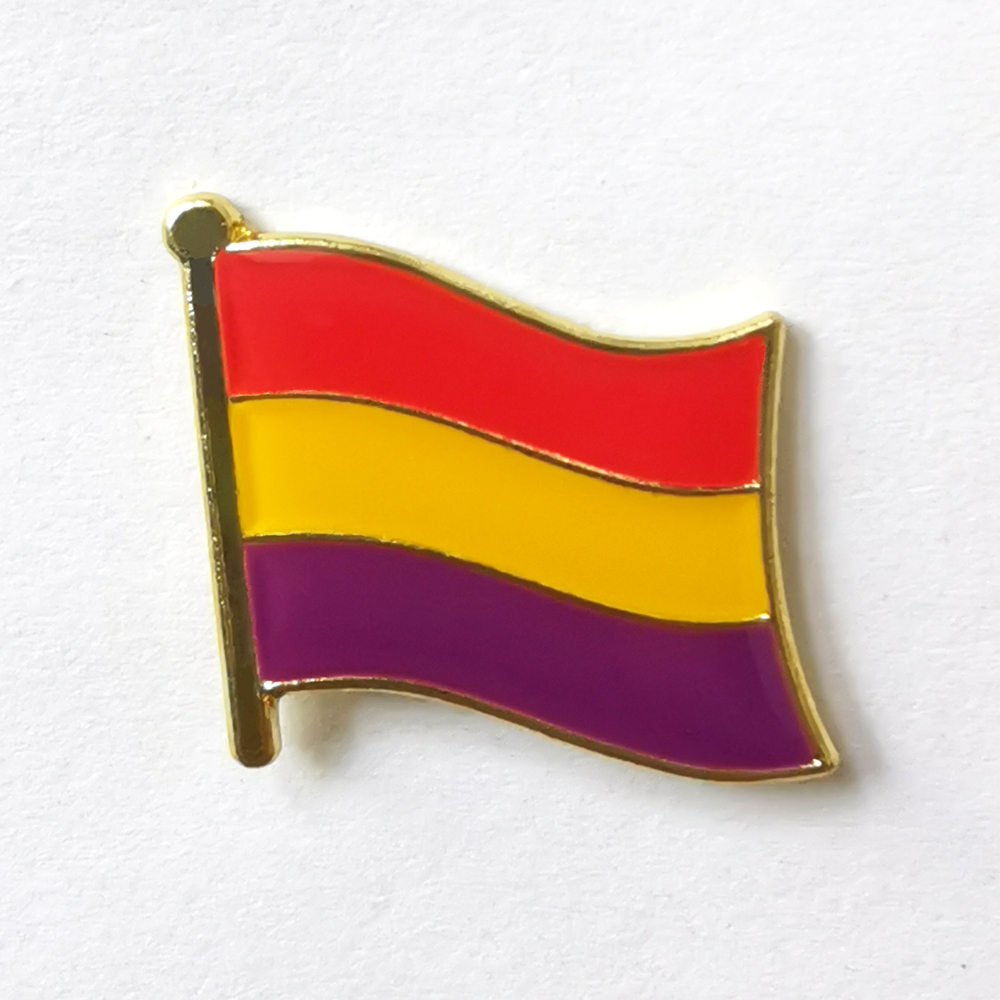 Spain (1931-1939) Flag Lapel Pins Brooch Of The Second Spanish Republic National