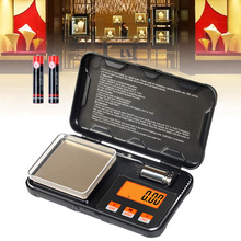 New Hot 200g / 0.01g Digital Pocket Scale 50g Calibration Weight with Tweezers Battery Include
