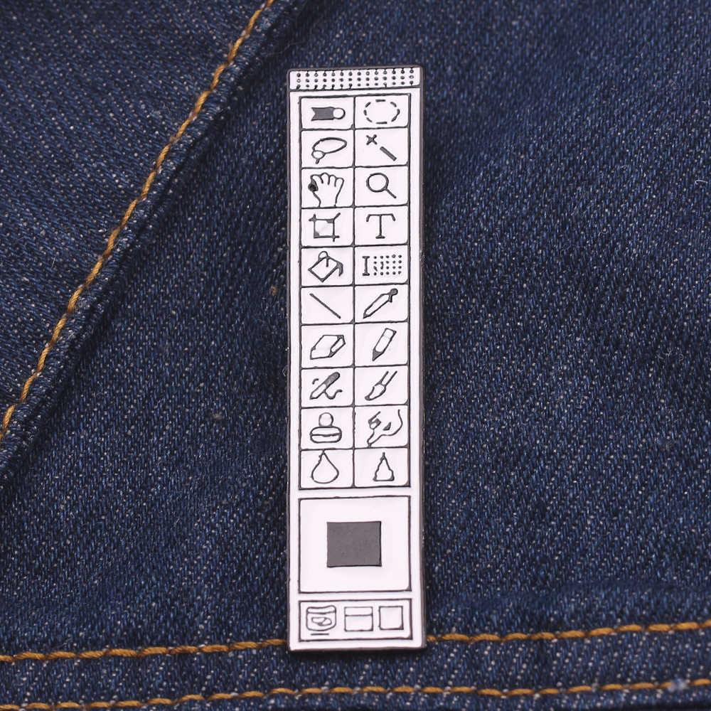 Photoshop Toolbar Bros Enamel Pin Gambar Pengolahan PS Keyboard Lencana Komputer Kursor Alat Seni Ini Desainer Pekerja Hadiah