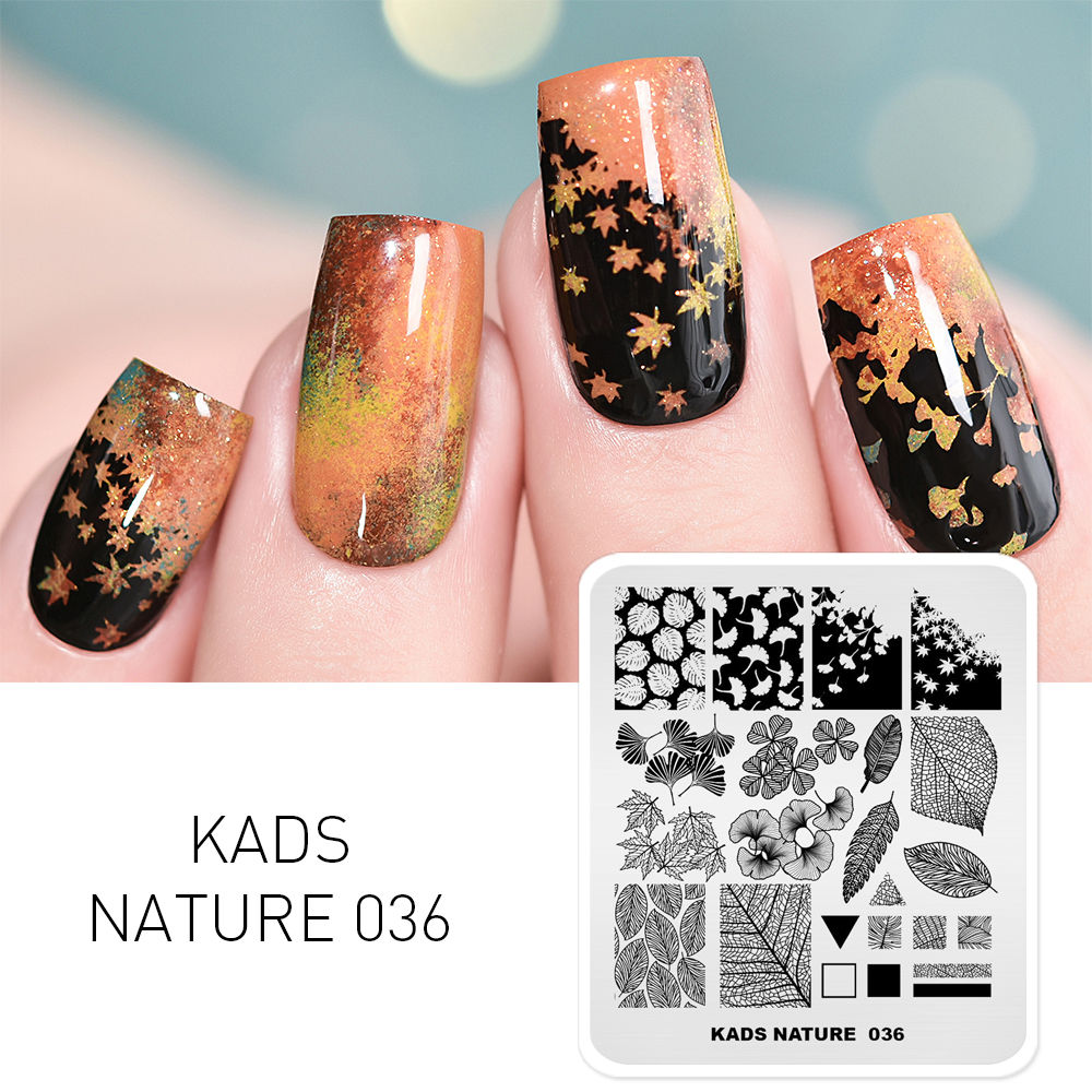KADS Nature Series Different Design Nail Stamping Plates Butterfly Mountain Range Templates DIY Image Manicure Plate Set