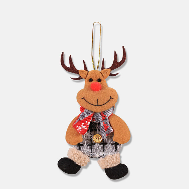 2019 New Small dolls Christmas tree decorations pendant Christmas day children's small gifts hanging lanyard dolls 22