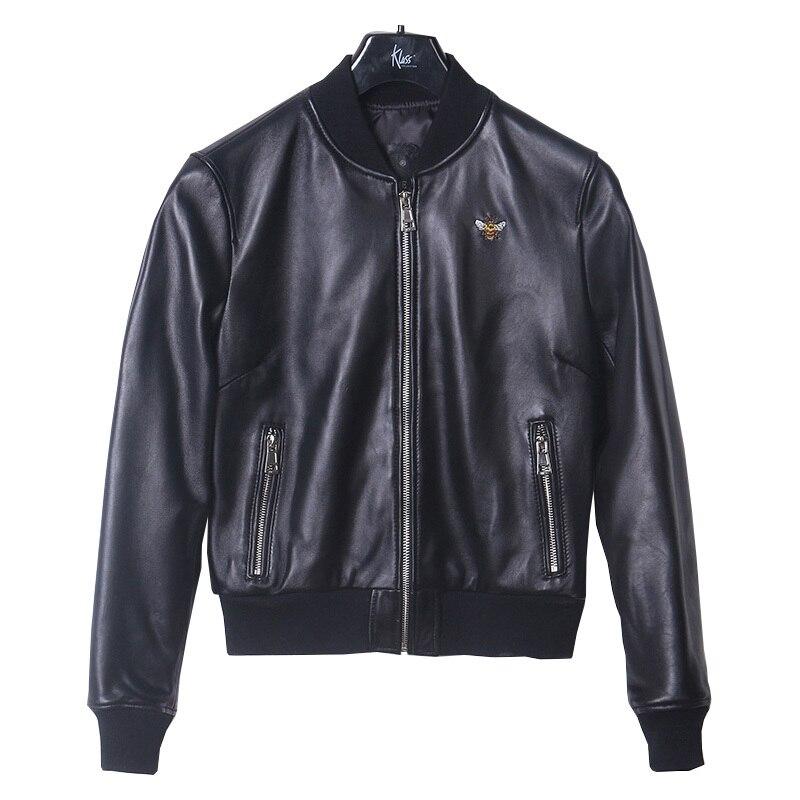 2020 casual natural casaco de pele carneiro feminino curto genuíno jaqueta de couro das senhoras dos esportes jaquetas de couro real plus size yq368