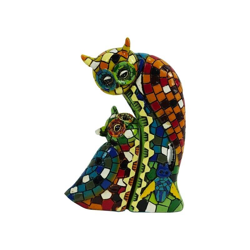 Coruja resina mosaico para casa e jardim decoração ao ar livre estátuas animais e esculturas