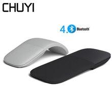Sans fil Bluetooth 4.0 souris silencieux ArcTouch rouleau ultra mince ergonomique Mause ordinateur Laser jeu souris pliable pour Xiaomi PC