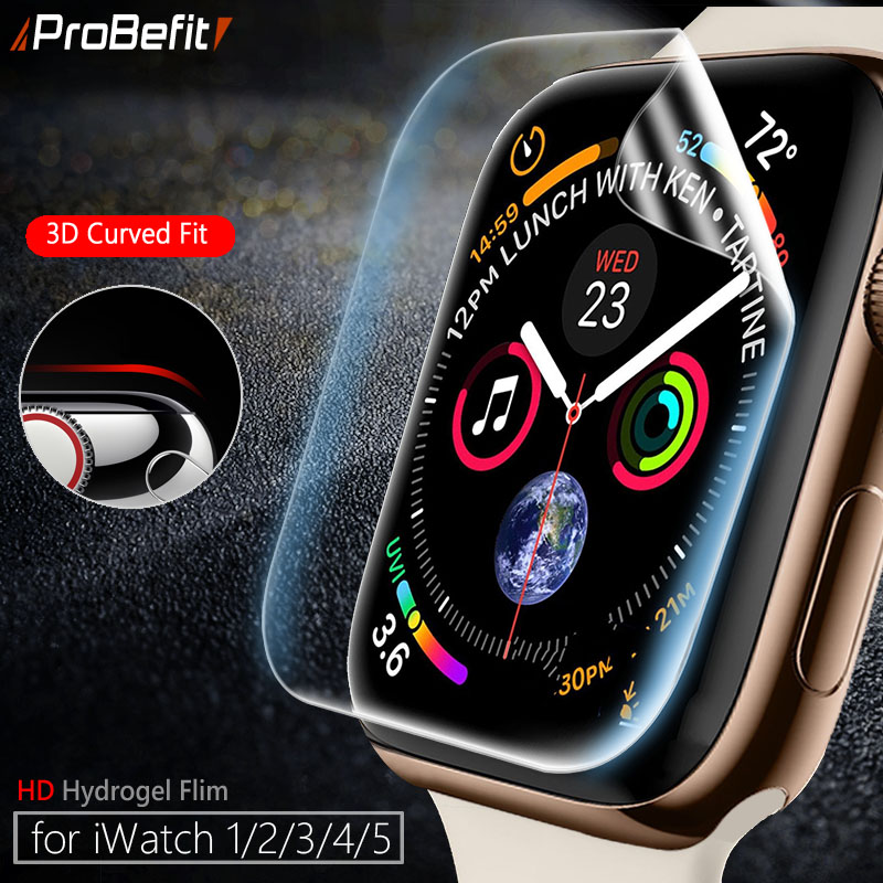 Screen Protector Clear Full Coverage Protective Film For IWatch 4 5 40MM 44MM Not Tempered Glass For Apple Watch 3 2 1 38MM 42MM
