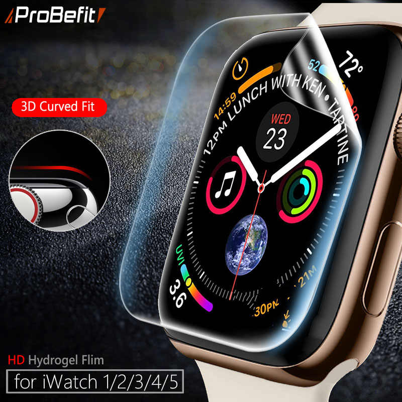 Pelindung Layar Jelas Cakupan Penuh Film Pelindung untuk IWatch 4 5 40 Mm 44 Mm Tidak Tempered Glass untuk Apple tonton 3 2 1 38 Mm 42 Mm