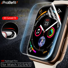 Pelindung Layar Jelas Cakupan Penuh Film Pelindung untuk IWatch 4 5 40MM 44MM Tidak Tempered Glass untuk Apple tonton 3 2 1 38MM 42MM(China)