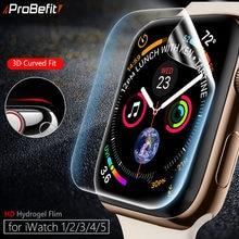Protector de pantalla transparente de cobertura completa película protectora para iWatch 4 5 40MM 44MM no vidrio templado para Apple Watch reloj de 3 2 1 38MM 42MM
