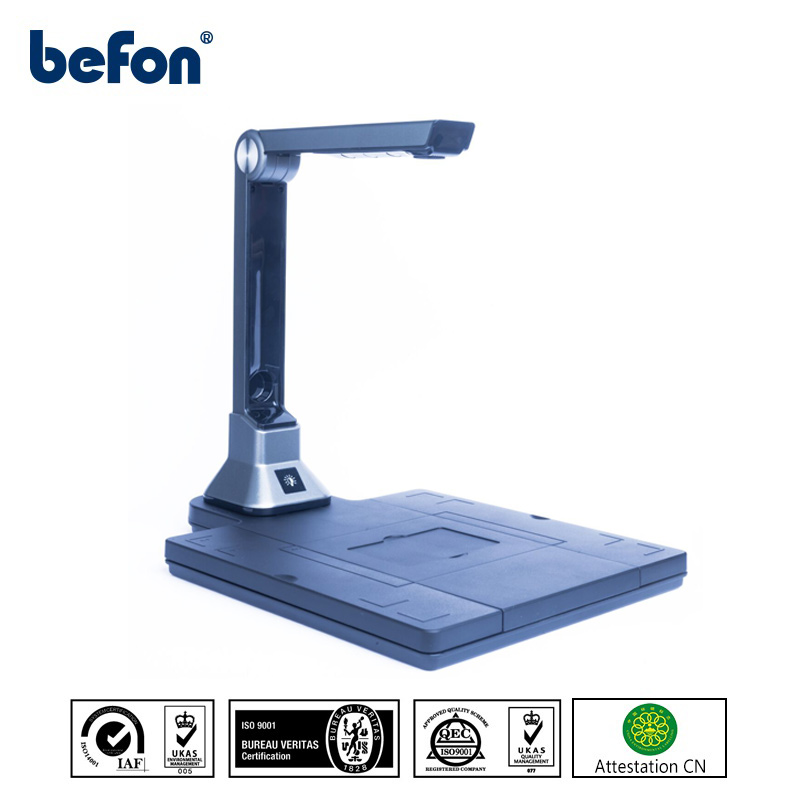 befon Portable Document Scanner with OCM Chip 10M HD Camera A4 Book Photo ID Card 0.6s Hight Speed Reader for Windows