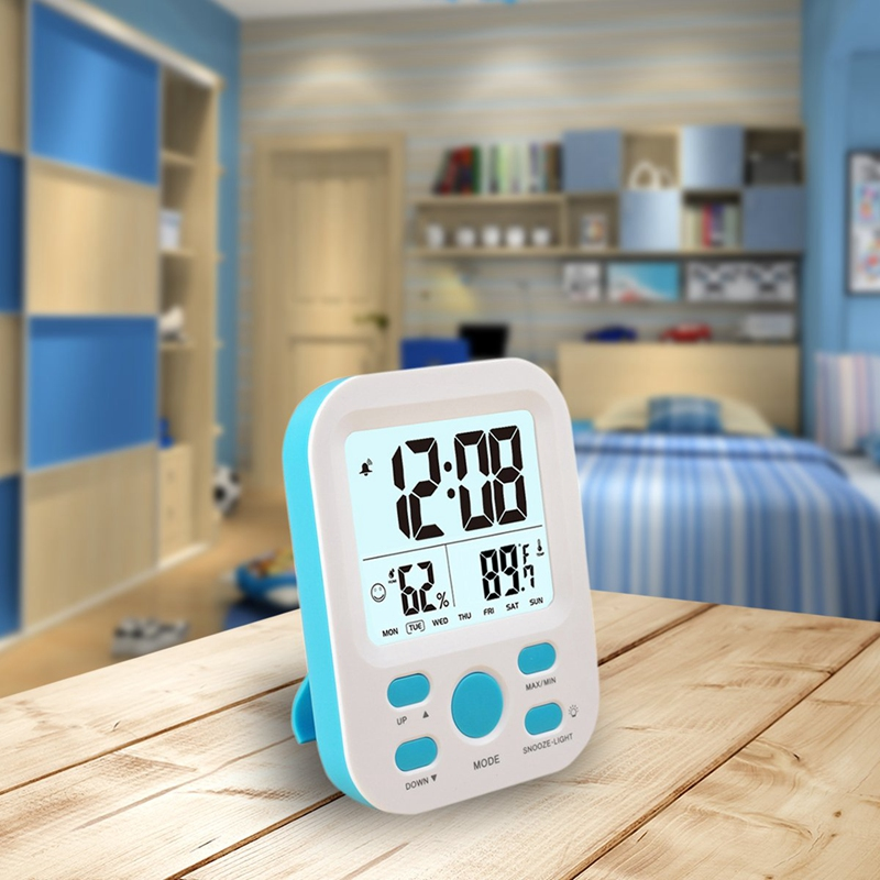 Digital <font><b>Alarm</b></font> <font><b>Clock</b></font> for <font><b>Boys</b></font> Kids Teens,Desk Nightstand <font><b>Clock</b></font> with Crescendo <font><b>Alarm</b></font>,Repeating Snooze,Week 12/24H,Low Nightlight,T image