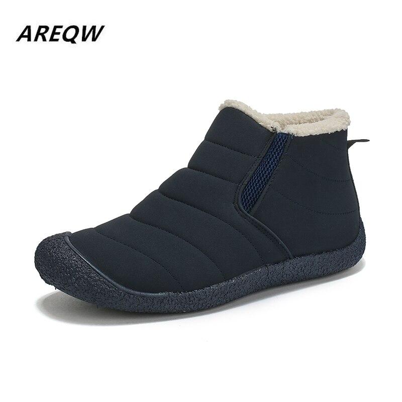 2019 Winter New Couple Shoes Snow Boots Warm Plus Velvet Non-slip Warm Casual Ankle Boots Large Size Men's Shoes