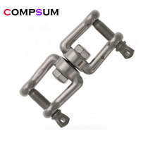Chain-Connector Boat Swivel-Jaw Jaw-Anchor Double-Shackle-Swivel 304-Stainless-Steel