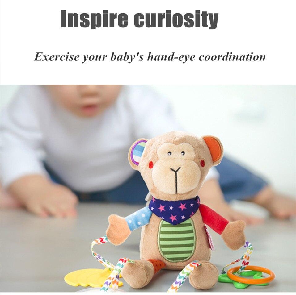 carrinho de criança pendurado móvel chocalhos brinquedos recém-nascidos com mordedor