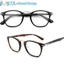 Очки IVSTA кошачий глаз для мужчин и женщин, из ацетата, Рецептурные очки для близорукости, Роскошная итальянская брендовая дизайнерская оправа