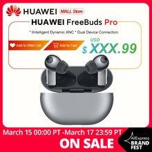 W magazynie globalna wersja HUAWEI Freebuds Pro Smartearphone Qi bezprzewodowa funkcja ładowania ANC dla Mate 40 Pro P30 Pro OBLEDNEOFERTY12